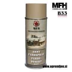 Vojaška barva sprej puščavsko temno siva DESERT mat RAL1019 400ml MFH - Max Fuchs by B33 army shop at www.opremljen.si