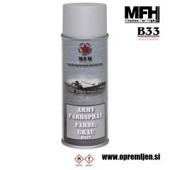 Vojaška barva sprej svetlo siva GREY mat RAL7038 400ml MFH - Max Fuchs by B33 army shop at www.opremljen.si