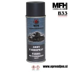 Vojaška barva sprej tankovsko siva WH TANK GREY mat 400ml MFH - Max Fuchs by B33 army shop at www.opremljen.si