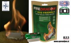 Vojaške all-weather bio gorilne tablete FireDragon iz etanola, pakiranje 6 kosov (NATO approved NSN: 9110-99-505-2835), BCB International, B33 army shop, trgovina z vojaško opremo, vojaška trgovina