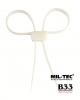 Vojaške/policijske plastične zatege (lisice) bele barve by Miltec by Sturm at B33 army shop www.opremljen.si