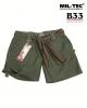 vojaške ženske kratke hlače ripstop prewash, olivna barva, by B33 army shop at www.opremljen.si