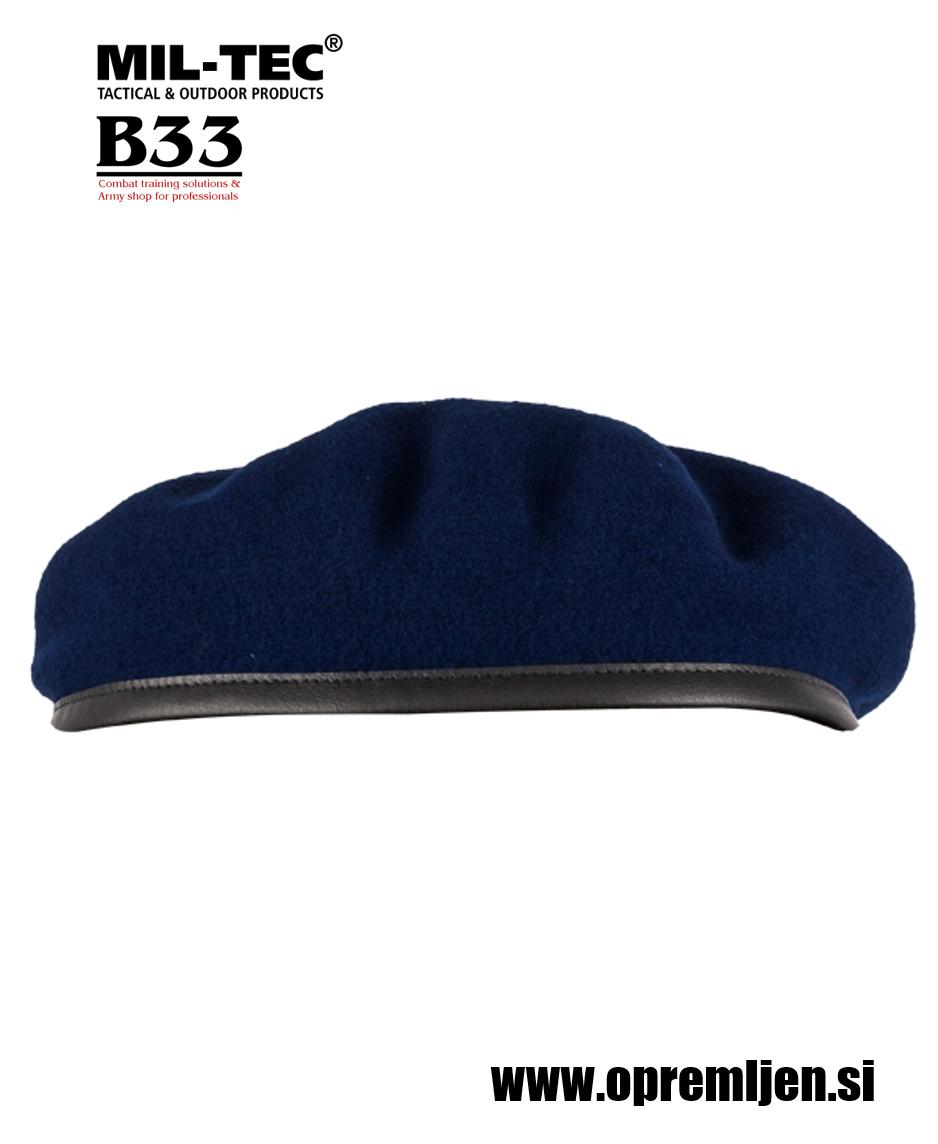 Vojaška beretka BW commando PLEIN CIEL temno modre barve MILTEC by B33 army shop at www.opremljen.si, vojaška trgovina, trgovina z vojaško opremo